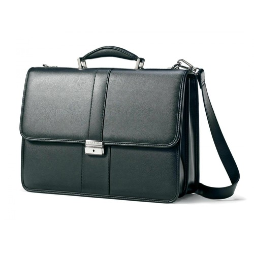 Samsonite Leather Business Cases Flapover Briefcase