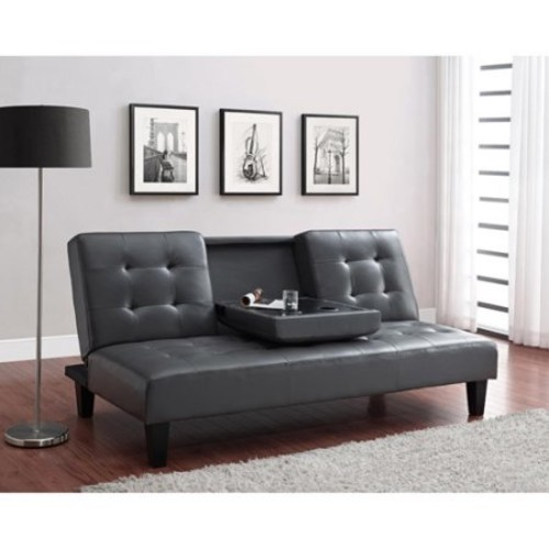 Julia Cupholder Convertible Futon, Multiple Colors