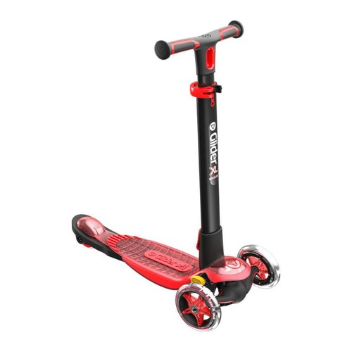 Yvolution Y Glider XL Deluxe 3 Wheel Scooter - Red