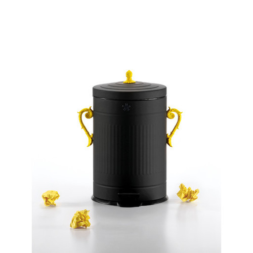 Trash-Chic 4.7 Gallon Step-On Metal Trash Can by Selab for Seletti