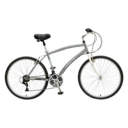 Mantis Premier 726M Comfort Bicycle, 26 in. Wheels, 18 in. Frame, Men's Bike in Silver