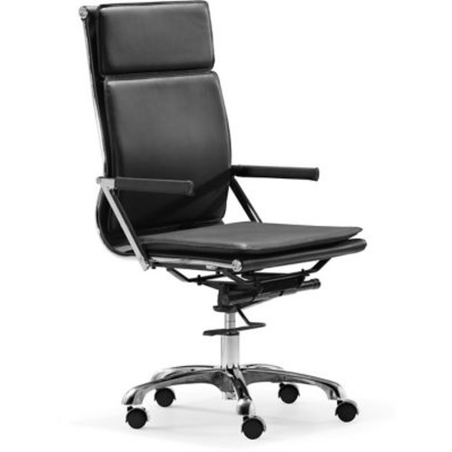 Zuo Lider Plus Leatherette High Back Office Chairs