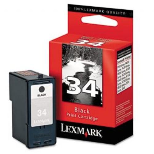 Lexmark Cartridge No. 34 - Black - original - ink cartridge - for P62XX, 91X; X25XX, 35XX, 45XX, 50XX, 52XX, 53XX, 54XX, 7350, 83XX; Z13XX, 14XX, 81X, (18C0034)