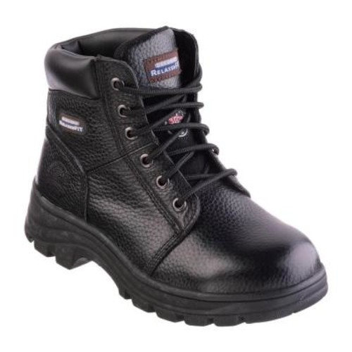 Skechers Workshire - Peril Women Size 9 Black Leather Work Boot
