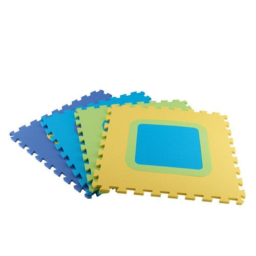 TrafficMASTER Multi-Color 20.86 in. x 20.86 in. x 0.39 in. Mix N Match Playroom Floor (4-Pack)