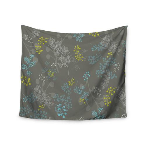 Kess InHouse Laurie Baars 'Ferns Vines Green' 51x60-inch Wall Tapestry