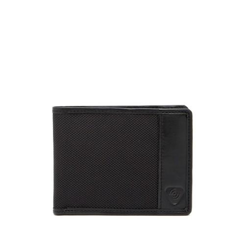 RFID Blocking Ballistic Nylon & Leather Trimmed Bifold Wallet