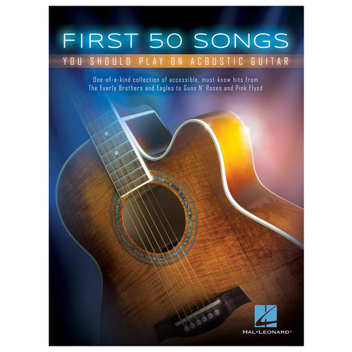 Hal Leonard - First 50 Songs You Should Play on Acoustic Guitar Songbook - Multi