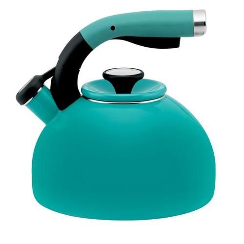 Circulon 'Morning Bird' Capri Turquoise Enameled Stainless Steel 2-quart Tea Kettle