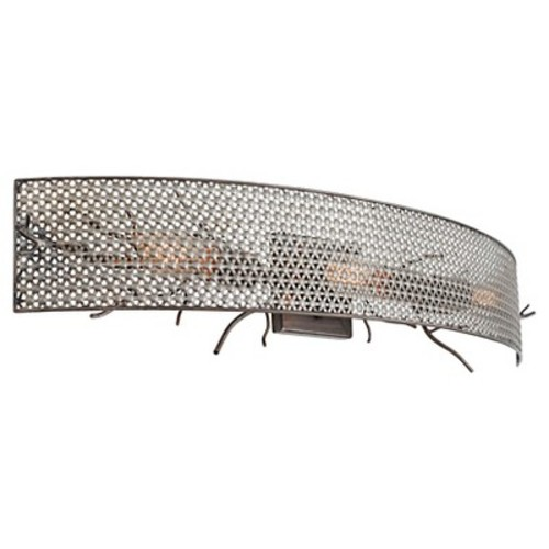 Varaluz Treefold 3 Light Wall Lighting , Steel With Recycled Steel Mesh