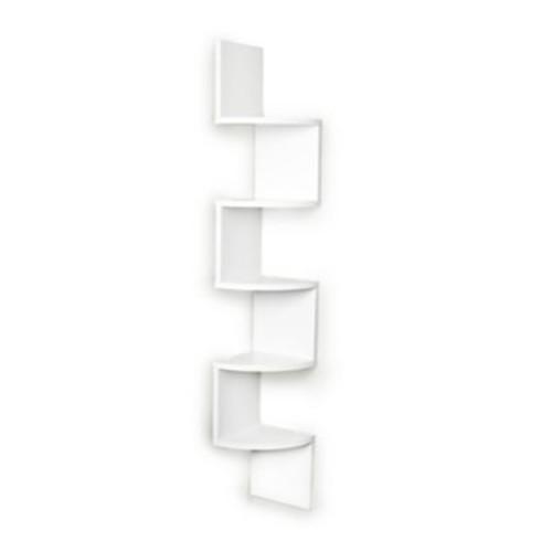 Danya B Large Laminated Corner Wall Mount Five-Shelf 49