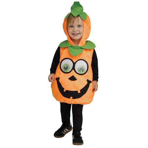 Infant Googly Eye Pumpkin Costume Up to size 24 Months - one size (up to 24 months)