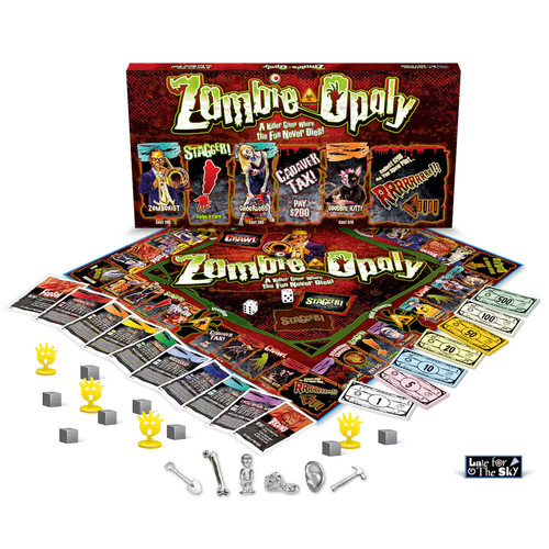 e for the Sky Zombie-Opoly Board Game