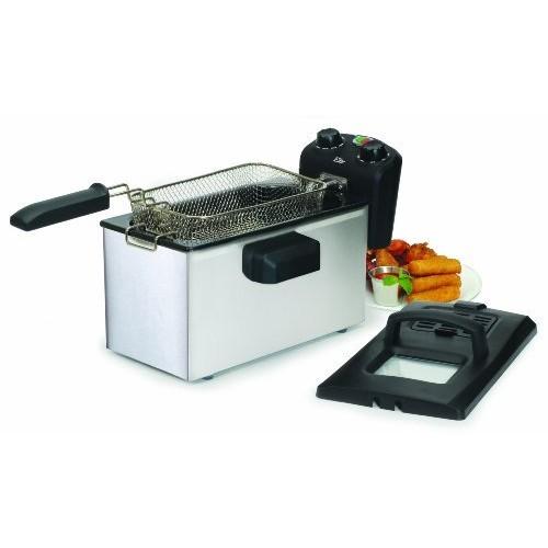 Elite Gourmet EDF-3500 Maxi-Matic 3.5 Quart Deep Fryer, Stainless Steel [Gourmet]