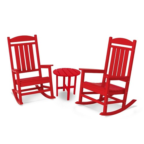 POLYWOOD Presidential 3 pc. Rocker Set with Round Side Table