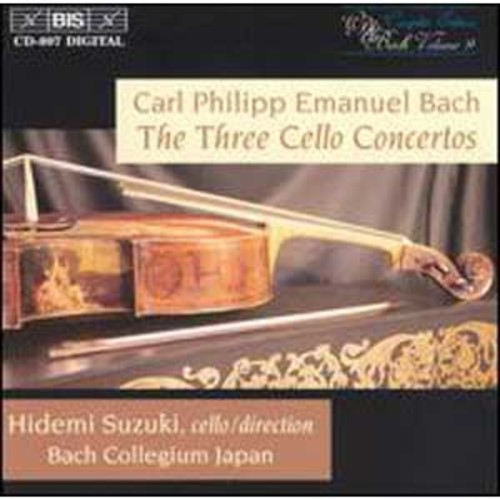 C.P.E. Bach: The 3 Cello Concertos By Hidemi Suzuki (Audio CD)