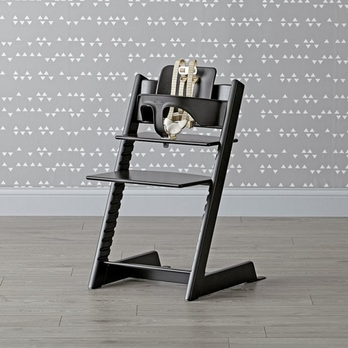 Black Tripp Trapp High Chair and Baby Set from Stokke