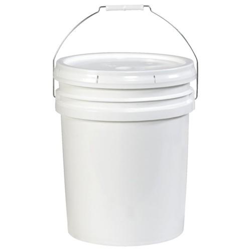 Office Depot Brand Plastic Pail Shipper, Open Head, 5 Gallon, White