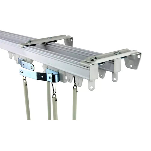 Rod Desyne Commercial Wall / Ceiling Double Curtain Track Kit
