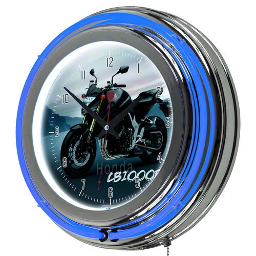 Honda CB1000R Chrome Double Ring Neon Clock