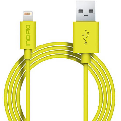 Incipio - One Meter Lightning Charge/Sync Cable - Yellow - PW-187