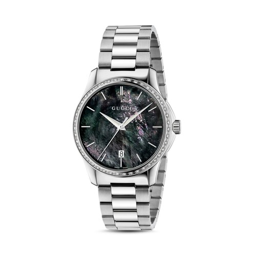 GUCCI G-Timeless Diamond Bezel Watch, 38Mm