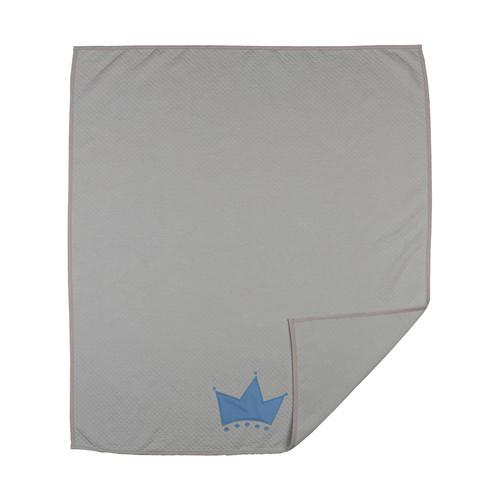 Living Textiles Baby Little Crown Diamond Matelasse Coverlet