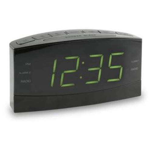 GPX Audio AM/FM Clock Radio 1.8 inch LED