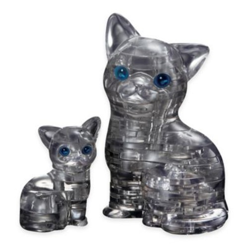 Cat with Kitten 49-Piece Original 3D Crystal Puzzle
