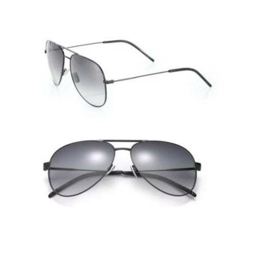 SAINT LAURENT 59Mm Classic Aviator Sunglasses