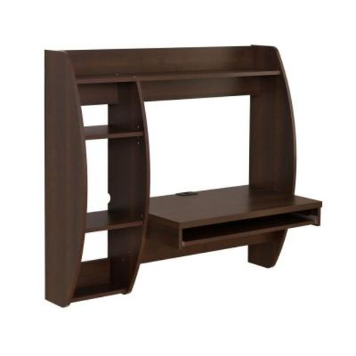 Prepac Rich Espresso Desk with Shelves