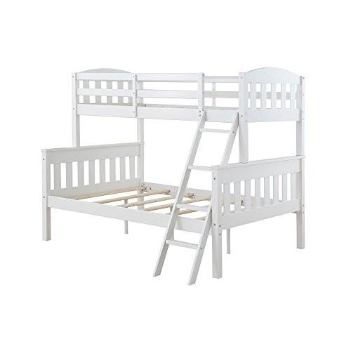 Dorel Living Dorel Living Airlie Twin over Full Bunk Bed, White [White]