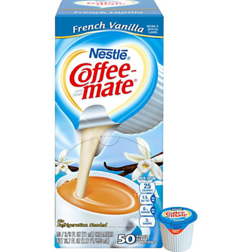 Nestl Coffee-mate Coffee Creamer French Vanilla - liquid creamer singles - French Vanilla Flavor - 0.38 fl oz - 200/Carton - 1 Serving