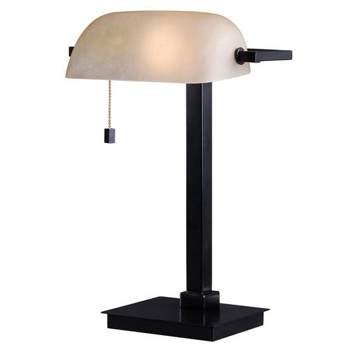 Kenroy Home 32305BS Wall Street Desk Lamp, Brushed Steel Finish [Brushed Steel]