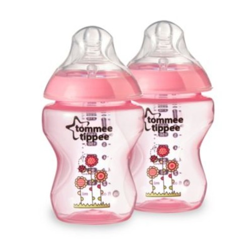 Tommee Tippee Closer to Nature 9-Ounce Deco Baby Bottle in Pink