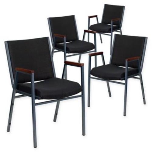 Flash Furniture Fabric/Metal Stacking Chair (Set of 4)