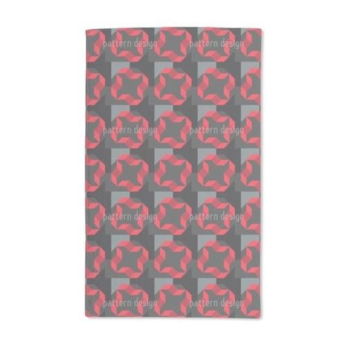 Geometric Rotation Hand Towel (Set of 2)