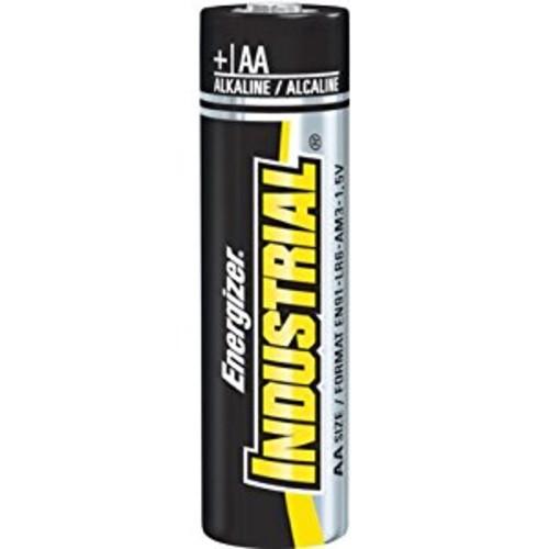 Energizer EN91 Industrial Alkaline Batteries, AA (Box of 24 Batteries)
