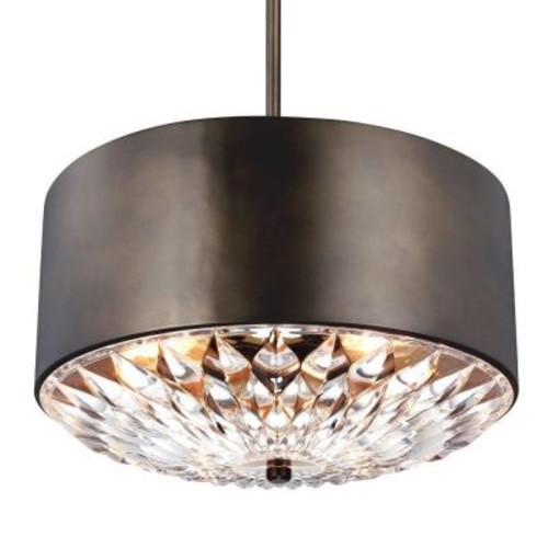 Feiss Botanic 4-Light Dark Aged Brass Indoor Pendant