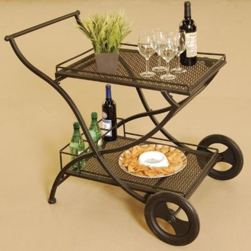 Laguna EZ Fold Wrought Iron Serving Cart