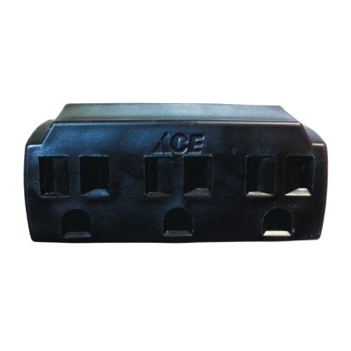 Ace Grounded Triple Outlet Adapter Brown 15 amps 125 volts 1 pk(10 Pack)(FA-351/01)