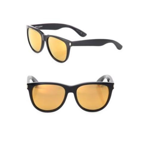 SAINT LAURENT 54Mm Mirrored Round Sunglasses