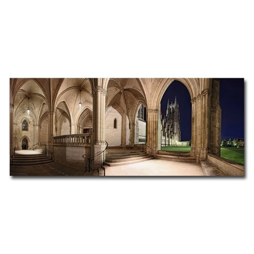 National Cathedral by Gregory O'Hanlon, 10x24-Inch Canvas Wall Art [10 by 24-Inch]