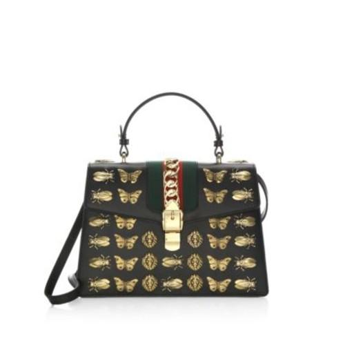 Metal Mix Sylvie Leather Top Handle Bag