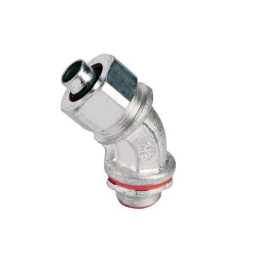1 in. 45 Degree Metal Liquidtight Connector (10 per Case)