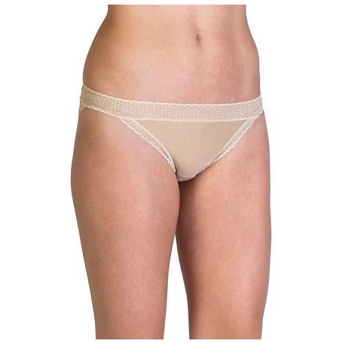 ExOfficio Women's Give-n-Go Lacy Low Rise Bikini Brief [Nude, Small]