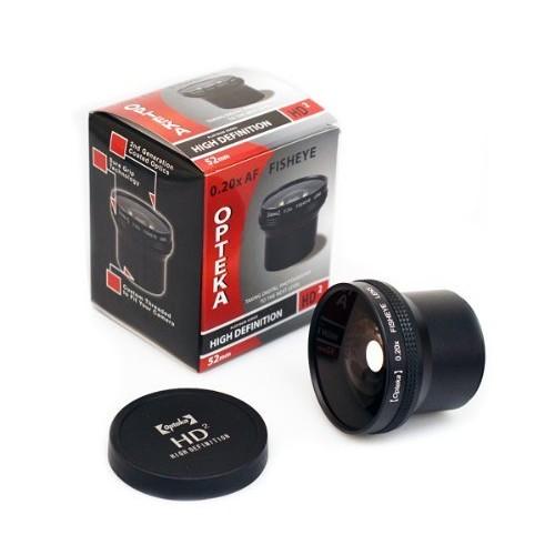 Opteka HD2 0.20X Professional Super AF Fisheye Lens for Panasonic Lumix DMC-LX5 Digital Camera