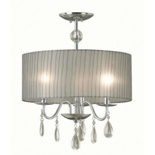 Kenroy Home Kenroy Arpeggio 3 Light Pendant In Chrome Finish