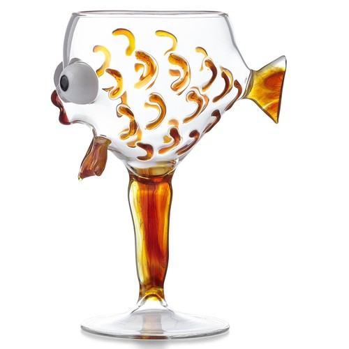 Amber Fish Goblet