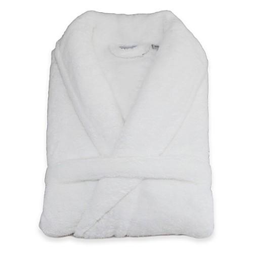 Linum Home Textiles Small/Medium Unisex Plush Microfiber Bathrobe